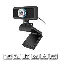 كاميرا ويب 1080P مع ميكروفون، USB HD سطح المكتب كاميرا فيديو للبث في الألعاب ماك ويندوز PC كمبيوتر لابتوب سكايب او بي اس تويتش يوتيوب
