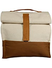 Avni Bon Appetite Canvas Brown Bag (Lunch Bag)