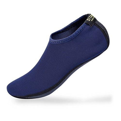 SITAILE Damen Herren Kinder Barfuß Schuhe Weich Wassersport Schuhe Aquaschuhe Surfschuhe Badeschuhe Yoga Fitness Schuhe Water Aqua Shoes,Blau,3XL,EU45-46