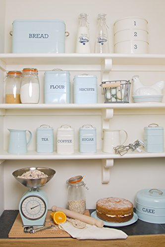 KitchenCraft Living Nostalgia Duck Egg Blue Tea Canister, 11 x 17 cm