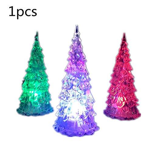 Générique 1 PCS Forma árbol Navidad Luz