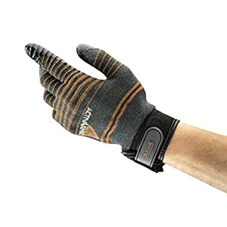 Ansell ActivArmr 97-009 Multi-purpose gloves, mechanical protection, Black, Size 8 (Pack of 1 pair)