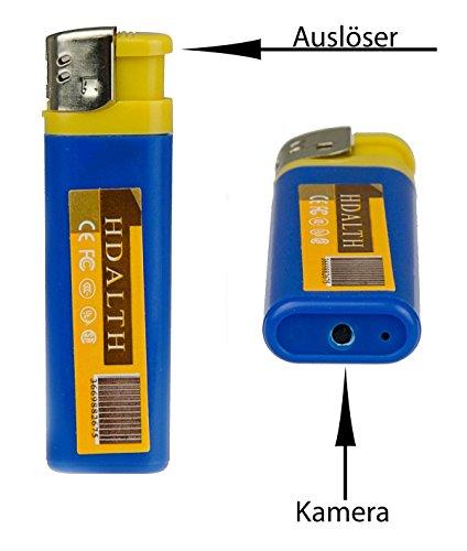 2.0 Megapixel Kamerafeuerzeug K24 Feuerzeugkamera Spionagefeuerzeug Version 2.4 für Videos und Bilder in guter Qualität mit Integriertem 2.0 USB zum schnellen Datenaustausch
