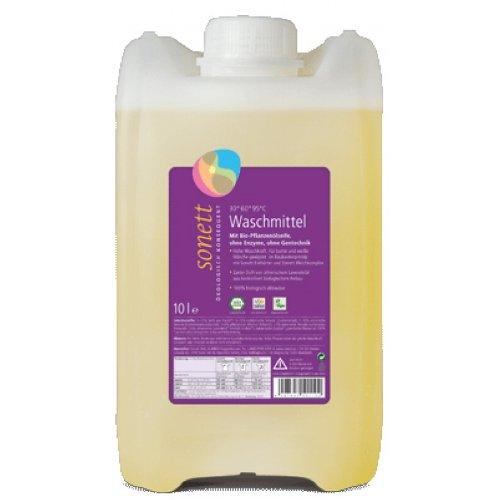 Sonett Waschmittel Lavendel: Für bunte und weiße Wäsche, mit Bio-Pflanzenölseife, ohne Enzyme und ohne Gentechnik, 10 l