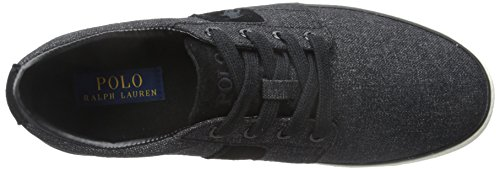 Ralph Lauren Mens Halmore Canvas Trainers Noir