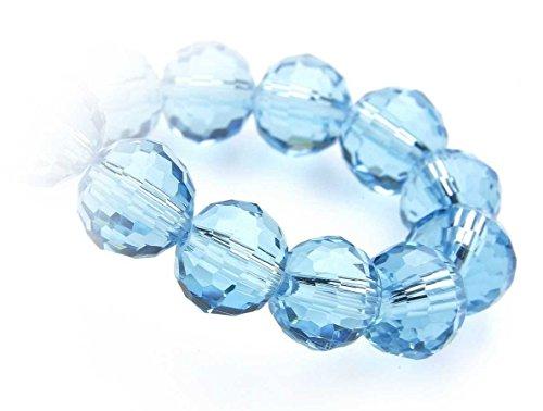 Kits de perles créatives colliers de bracelet Perles Crystalstar CB 8 MM, mini chaîne, paquet de 25, 48 aqua