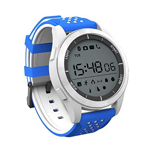 QUARKJK Smart Watch wasserdicht IP68 Anrufnachricht Erinnerung Ultra-Lange Standby-Outdoor-Schwimmen Sport Smartwatch,Blue