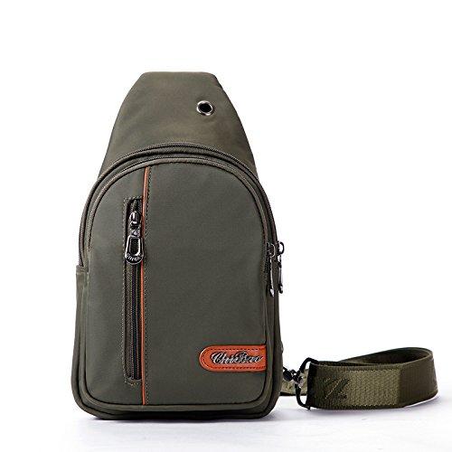Bust Nylon Tessuto da viaggio viaggio respirabile portatile 30 * 17 * 7 borsa grande Messenger Bag Corset , 762 army green 7886 army green