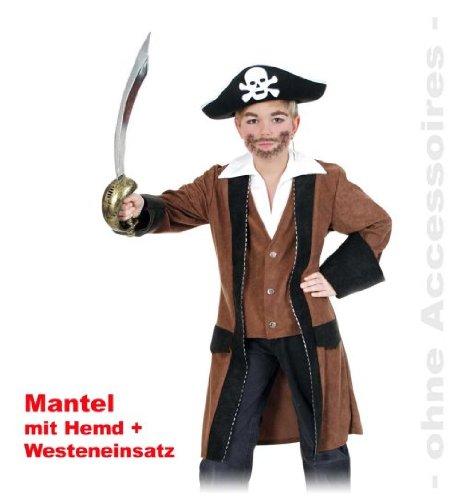 stüm 152 Kinder Oberteil Longjacke mit Blender (Jake Der Pirat Kostüm)