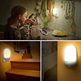 LED Night Light, OMERIL Plug-and-Play Automatic Wall Lights with Dusk to Dawn Photocell Sensor, Night Lamp Lighting for Babyroom, Kids, Children's room, Nurseries, Stair, Hallway, etc-Warm White - 5