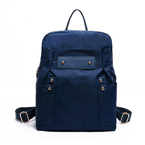 ZY&F nylon Borsa delle signore Borsa a tracolla multifunzionale zaino Borse a tracolla borsetta Signorina Zaino studente Borsa da viaggio , blue Blue