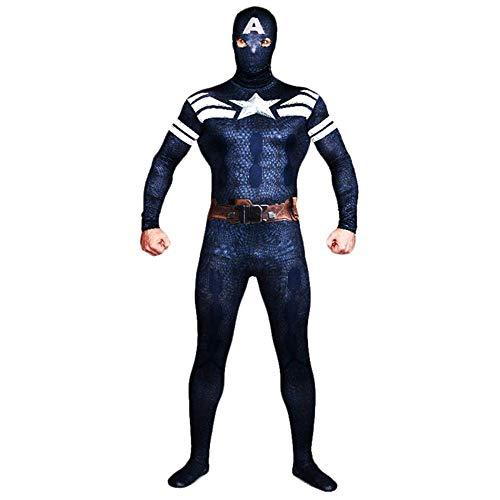 TENGDA Erwachsene Kinder Spider-Man Neue Captain America Cosplay Kostüm Super Hero Kostüm Weihnachten Halloween Rollenspiel Body Spandex Overalls - Captain America Neue Kostüm