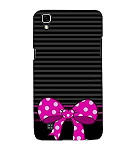 Fiobs Designer Phone Back Case Cover LG X Power :: LG X Power K220DS K220 ( Black And Purple Colorful Pattern Design )