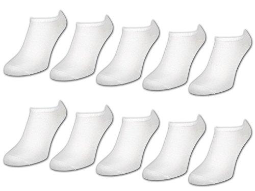10 Paar Comfort Sneaker Socken - Naft - Damen & Herren - 40-46 - Weiß