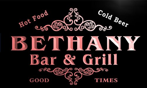 u03522-r BETHANY Family Name Bar & Grill Cold Beer Neon Light Sign Barlicht Neonlicht Lichtwerbung - Bethany Grill