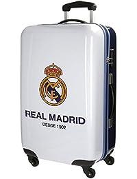 Real Madrid One Color Club Kindergepäck, 67 cm, 53 liters, Weiß (Blanco)