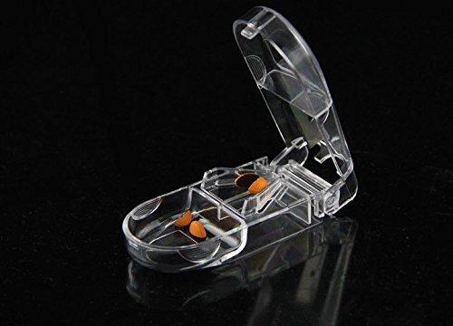 Automatische Medikamenten-dispenser (LazyMe Medikamente Cutter Pille Splitter Trennwand mit Kleinen Behälter für Tägliche Pille (1, Klar))