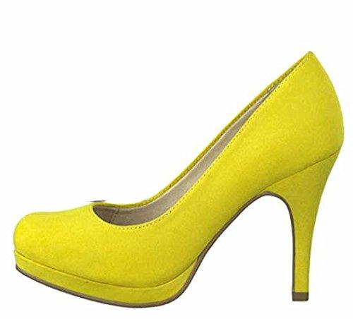 Tamaris Pumps 1-22407-20 Damenschuhe Plateau Stiletto, Schuhgröße:38;Farbe:Gelb