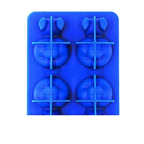 Eis Shutter, Chshe, Panda Form, Eisgitter, Gefrorene Eiswürfelschale Pudding, Ice Cube Mould Maker, Sommergeschenke (Blau)