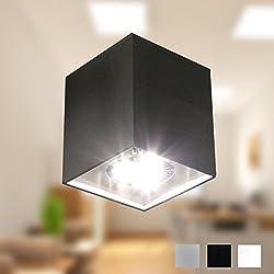 Foco LED Lámpara de techo lámpara de techo Foco Downlight Diseño Techo Foco Piso GU10CE 230V (Negro)