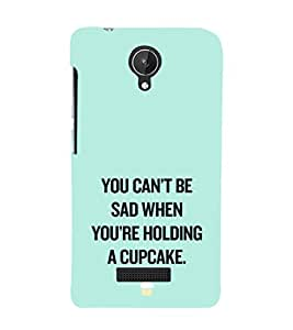 EPICCASE Have a cupcake Mobile Back Case Cover For Micromax Canvas Spark Q380 (Designer Case)