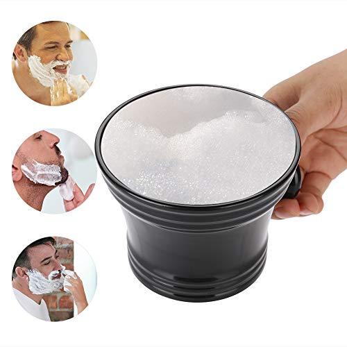 cuenco para afeitado de plástico, cuenco de espuma de afeitar de plástico para jabón de afeitar Negro