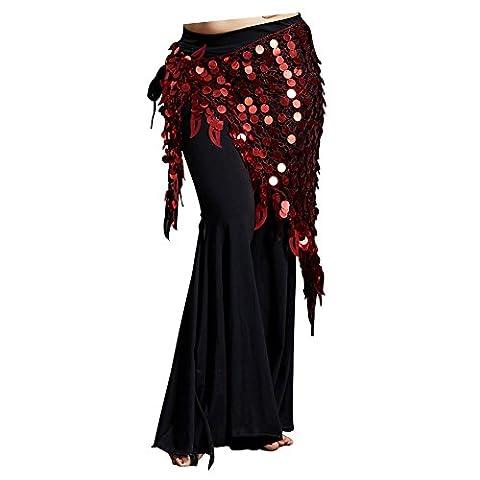 Dance Fairy Belly Dance Scarf Mermaid Sequins Mesh Triangle Hip