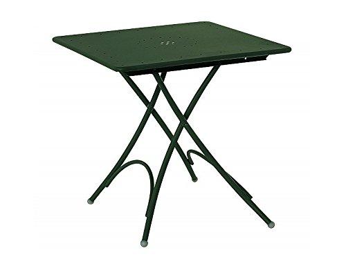 Emu Table Jardin en Acier carré Pliable Pigalle 76 x 76 cm Vert foncé