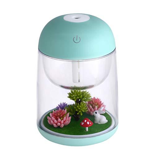 MiSha Humidificador de Aire Micro-Paisaje, Difusor de aceites Esenciales de Aroma, Regalo Creativo(Verde)