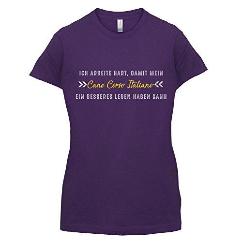 Ich arbeite hart, damit mein Cane Corso Italiano ein besseres Leben haben kann - Damen T-Shirt - 14 Farben Lila