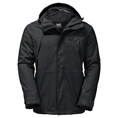 "Herren Doppeljacke / 3-in-1 Wanderjacke ""Harbour Bay"" Black"