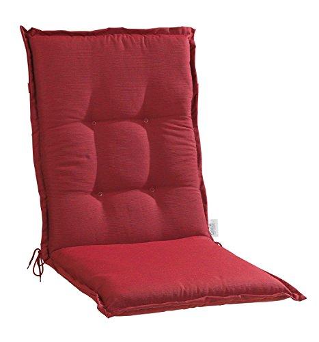 Sesselauflage Sitzpolster Gartenstuhlauflage für Mittellehner BACI 5 | B 50 cm x L 110 cm | Rot |...