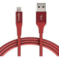 AmazonBasics - Cavo USB Tipo A cpm connettore Lightning, collezione Premium, 1,8 m, Confezione de 1 - Rosso