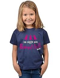 Mädchen zum 6. Geburtstag 6 Jahre alt T-Shirt Geschenk Idee Kindergeburtstag Shirt Kindershirt so sieht ein 6 jähriges Mädl aus 6 Geburtstagsgeschenk Mädel Kinder zur Einschulung in blau : )