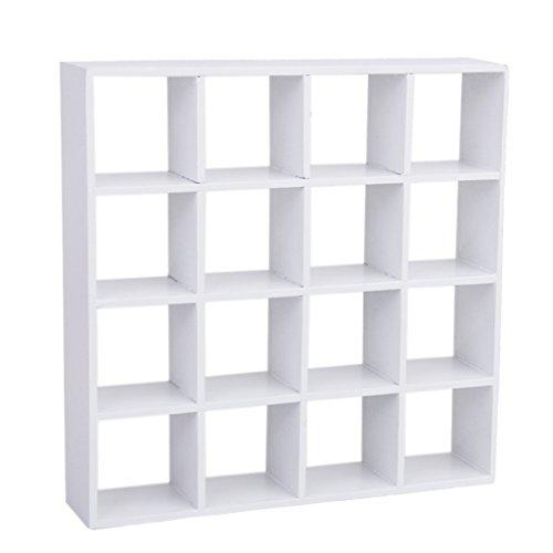 Generic 12 (1/12 Puppenhaus Miniatur 4 Schicht Holz Anzeige Regal Modell Weiß)