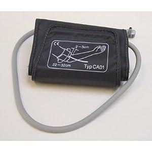 boso Zubehör – Standard Manschette für Blutdruck – Klettmanschette mit integriertem Schlauch – Zugbügelklettenmanschette 22-32 cm