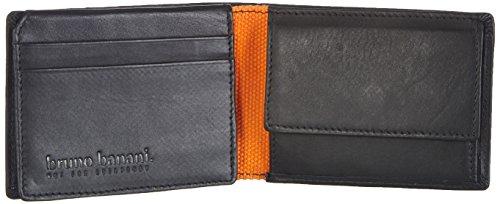 Bruno Banani Scheintasche Querformat W 320.1964 Unisex-Erwachsene Geldbörsen 10x8x2 cm (B x H x T) Orange (schwarz/orange)