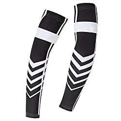 Spoz Pro Outdoor Sport Black Breathable Arm Sleeves Armlinge Xxl
