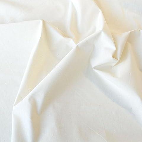 TOLKO® Baumwollstoffe Meterware Nessel ROH-Baumwolle in Natur-Weiß als Dekostoff (Breite: 170 cm |