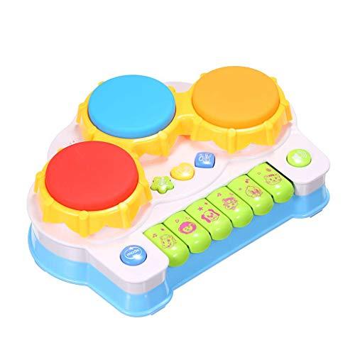 (ELENXS Musik-Klavier-Tastatur Drums E-Learning-Spielzeug Spaß Spiele für Kleinkind-Baby-Kind-Lernspiel)
