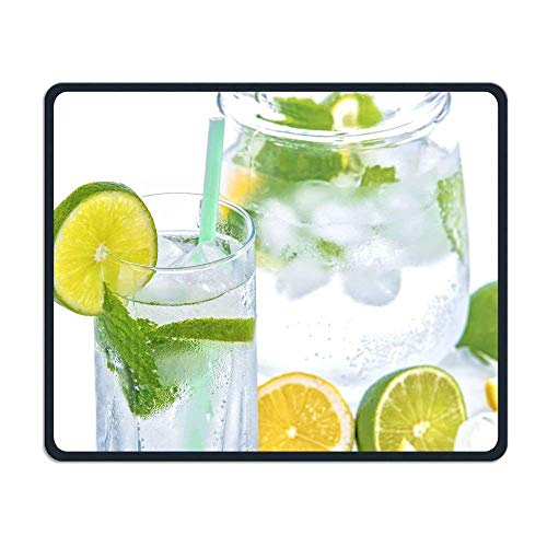 Mineral Water Lime Ice Comfortable Rectangle Rubber Base Mousepad Gaming Mouse Pad