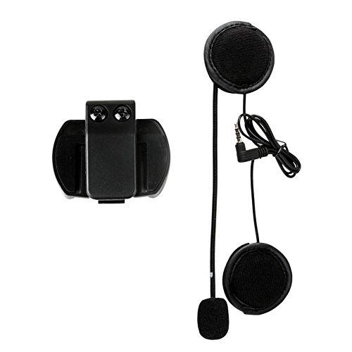 th Intercom Headset mit Mikrofon Futurepast Mikrofon Kopfhörer Hard Cable Headset und Clip V4/V6 Motorrad Helm Zubehör Headset im Freien Radfahren,Skifahren,Bergsteigen ()