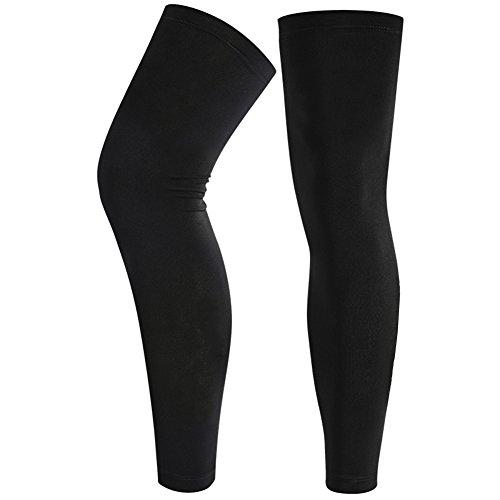 Unterstützt Full Länge Bein Ärmel Overknee Compression Waden Schienbein Ärmel Base Layers Bein Strumpfhosen Strümpfe Knie Unterstützung Wärmer Stützbandage für Laufen, Radfahren, Fitness, Basketball
