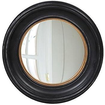 Belle Maison tradizionale nero rotondo occhio di pesce oblò Specchio da parete, 40cm