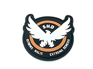 The Division SHD Extremis Malis Extrema Remedia Coulisses PVC Airsoft équipe Patch