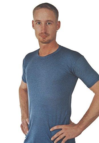 1 oder 2 Thermo-Unterhemden, Funktionsunterhemden,1/4 Arm, innen angeraut, Grössen 5 bis 10 lieferbar 1 Stück blau