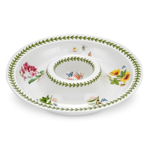 Portmeirion Exotic Botanic Garden Round Chip and Dip, 14-Inch by Portmeirion -