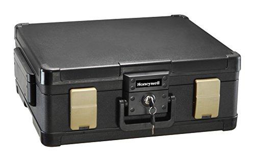 Honeywell 1104G Wasserdichter feuerfester Dokumentenkassette, 11 L, 60 Minuten Schutz mit Pneumatische Sicherheitsscharniere - 3