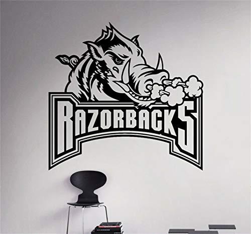 Wandtattoo Schlafzimmer Arkansas Razorbacks Ncaa College Football Sticker Poster Spielzimmer Kinderzimmer Jungenzimmer - Arkansas Razorbacks Auto