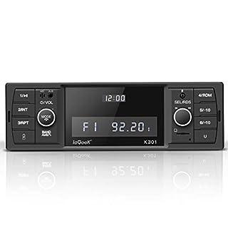 ieGeek Autoradio mit Bluetooth Freisprecheinrichtung, RDS/FM/AM Radio Tuner 1 Din, USB/MP3/WMA/WAV/TF-Media Player + Fernbedienung, Single Din Universal Autoradio